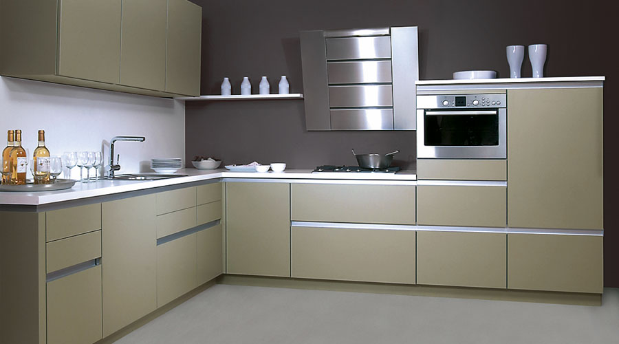 Mocha Kitchen Door, Handleless German Kitchen design and Installation