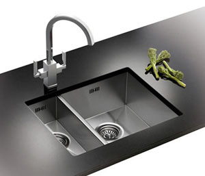 Franke Bolero BOX 160D Left Undermount sink