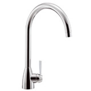 Franke Gotthard Tap with White Lever - Chrome