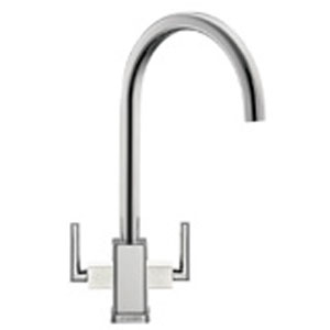 Franke Mythos MTG Tap - Silksteel with White Shoulders