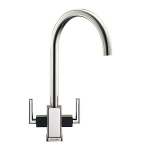 Franke Mythos MTG Tap - Chrome with Graphite Shoulders