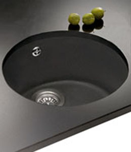 Franke Rotondo RUK 110 Undermount Sink - Black